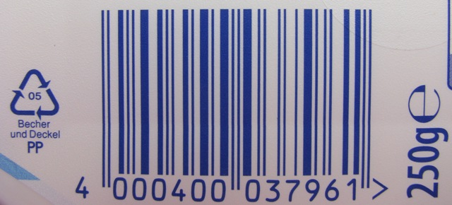 EAN Nummer scannen